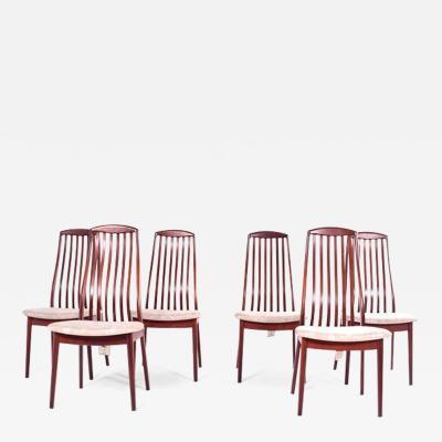 Preben Schou Mid Century Teak Dining Chairs by Preben Schou