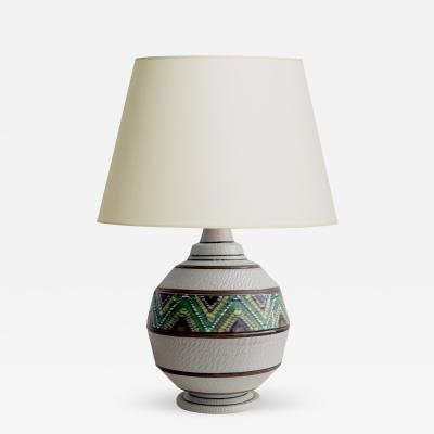 Primavera Atelier du Printemps Art Deco Table Lamp with Ethnographic Themes by Primavera
