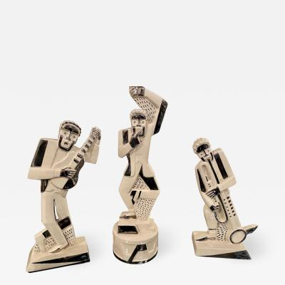 Primavera Atelier du Printemps French Modernist Cubist Trio of Musicians designed by Primavera
