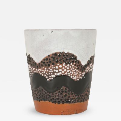 Primavera Atelier du Printemps Primavera Vase with Orange Black and White Glaze