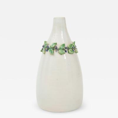 Primavera Atelier du Printemps Primavera White Ceramic Soliflore Vase Signed by Louise Chevallier