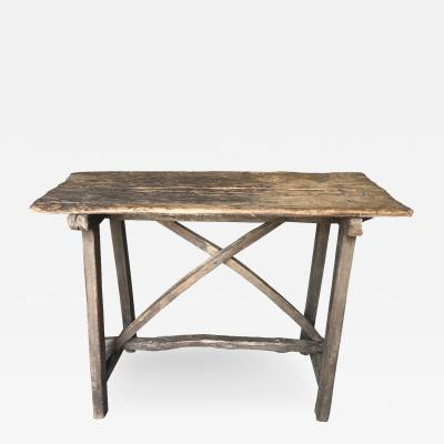 Primitive 18th Century Spanish Side Table