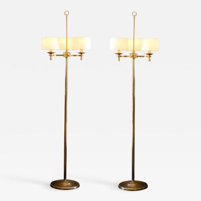 Prince de Galles Hotel Art Deco Floor Lamps Paris circa 1940