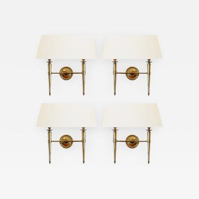 Prince de Galles Hotel Elegant Set of Four Sconces Paris circa 1940