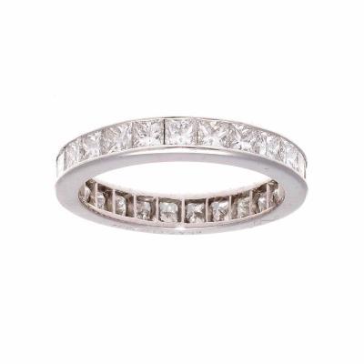 Princess Cut Diamond Platinum Eternity Band