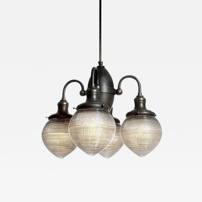 Prismatic Four Globe Dental Chandelier