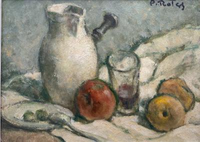Prosper Rotge Pitcher and Fruit