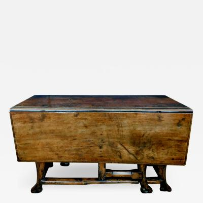 Provincial Portuguese Hardwood Swing Leg Table