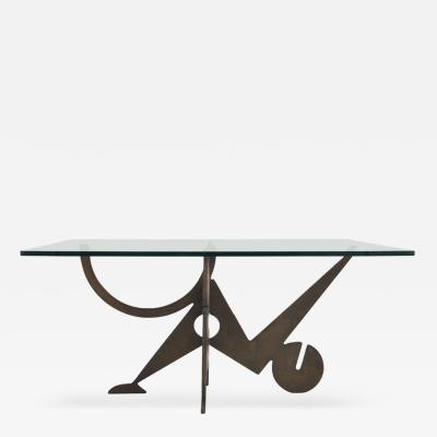 Pucci de Rossi Bronze and Glass Coffee Table by Pucci De Rossi