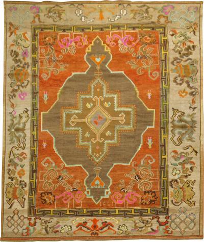 Pumpkin Color Turkish Kars Rug rug no j1725