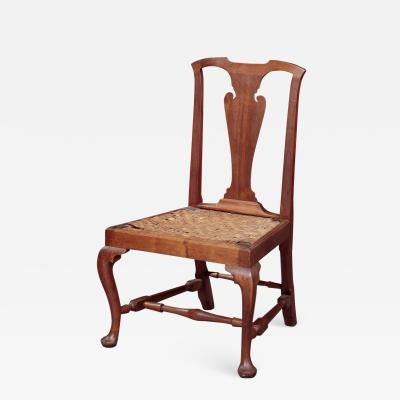 QUEEN ANNE SIDE CHAIR WITH A RUSH SEAT