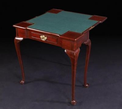 Queen Ann Mahogany Card Table