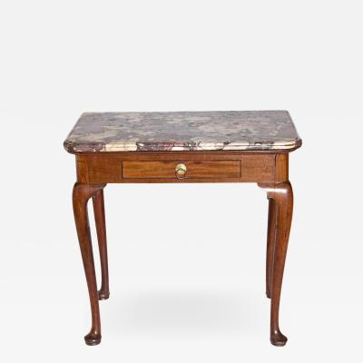 Queen Anne Carved Mahogany Slab Table