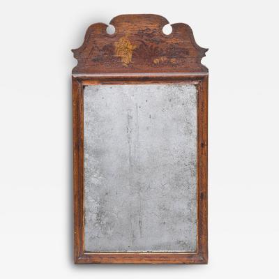 Queen Anne Mirror with Original Chinoiserie Decoration