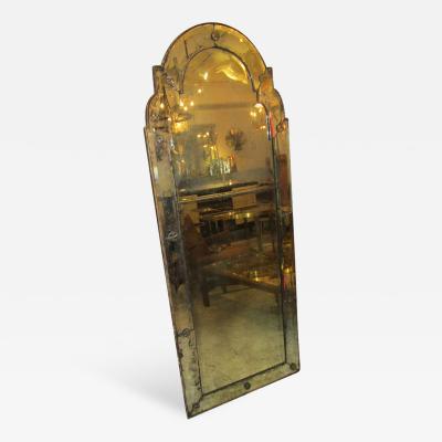 Queen Anne Style Italian Antique Mirror