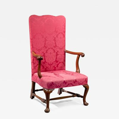 Queen Anne Upholstered Back Armchair