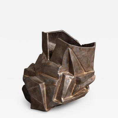 R A Pesce Medium Bronze Vase V