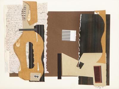 R Scott Lalley R Scott Lalley Guitarra Madrid 2014 Paper Collage on Paper