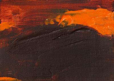 R Scott Lalley R Scott Lalley Orange Peeler Acrylic on Canvas Framed