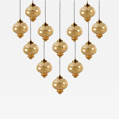 RAAK Large Set of Pendant Lights in the Style of RAAK 1960s