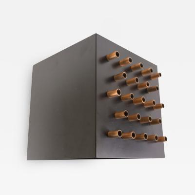 RAAK Metal and copper Clair obscur wall lamp by RAAK Amsterdam 1960s