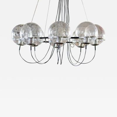 RAAK Raak Chandelier with 8 Bubble Glass Globes