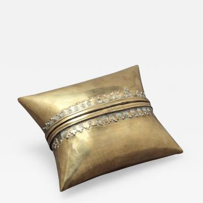 RARE BRASS PILLOW FORM BOX