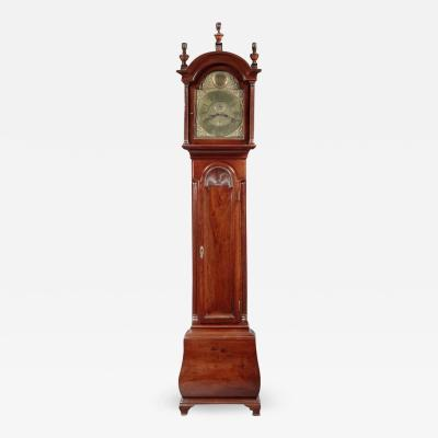 RARE CHIPPENDALE BOMBE TALL CASE CLOCK
