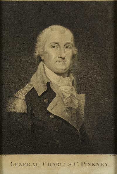 RARE ENGRAVED PORTRAIT OF GENERAL CHARLES C PINCKNEY
