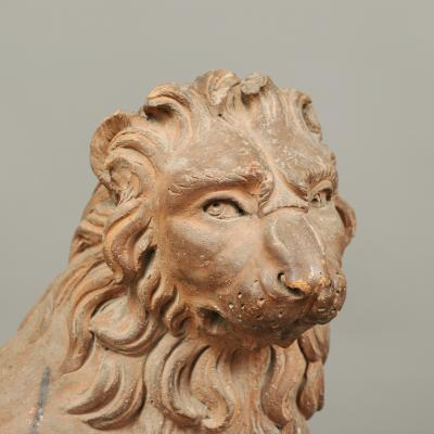 RARE PAIR OF LION GARDEN STATUES