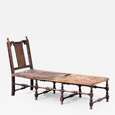 RARE WILLIAM AND MARY DAYBED