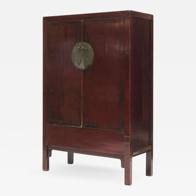 RED LACQUER CHINESE WEDDING CABINET C 1840