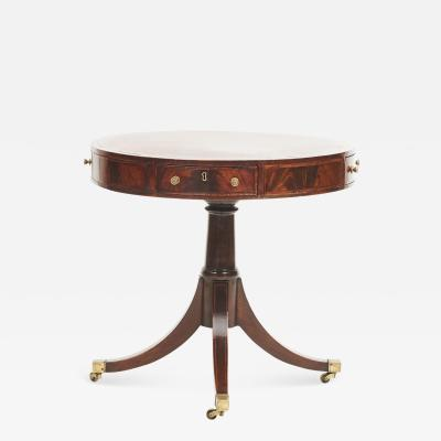 REGENCY REVOLVING MAHOGANY DRUM TABLE ENGLAND 1810 1820