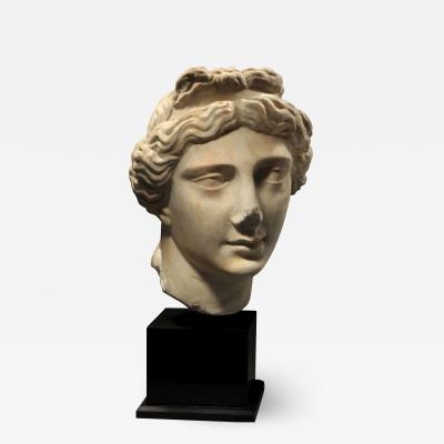 ROMAN MARBLE HEAD OF APHRODITE