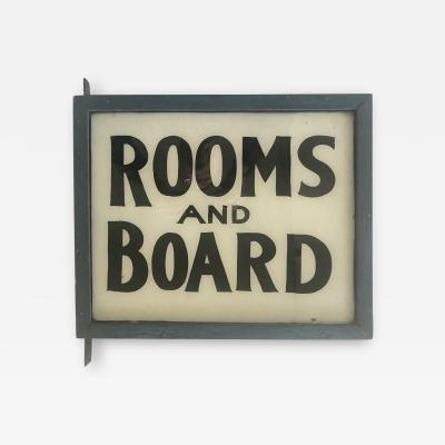 ROOMS and BOARD Lighted Sign