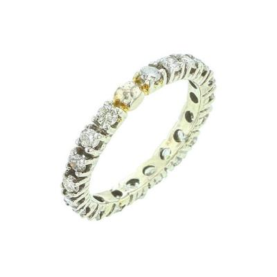 ROUND WHITE DIAMOND BAND 14K WHITE GOLD