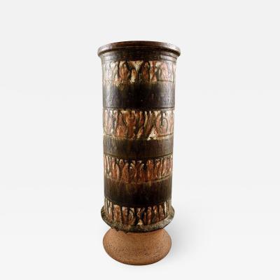 Rabiusla Herrliber Rabiusla Herrliber Swiss ceramist monumental floor vase