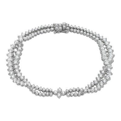 Radiance 18k White Gold and Diamond Bracelet