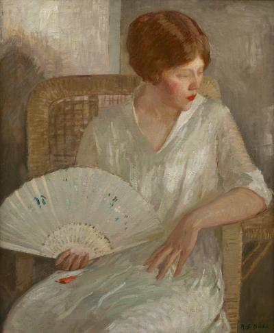 Rae Sloan Bredin Girl with White Fan