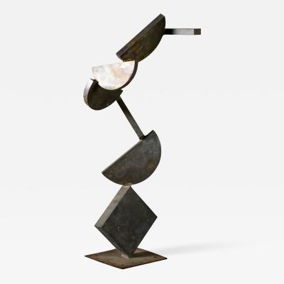 Rafe Affleck Rafe Afflec Abstract Steel Sculpture 1970s