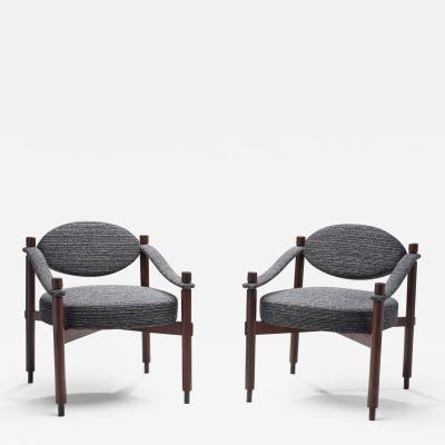 Raffaella Crespi Pair of Mid Century Armchairs by Raffaella Crespi for Mobilia Italy 1960s