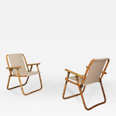 Raffaella Crespi Raffaella Crespi folding chairs in Bambu del 1950