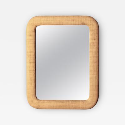 Raffia Framed Mirror 1950s
