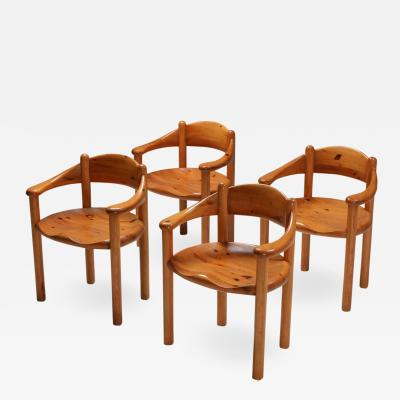 Rainer Daumiller Rainer Daumiller pine armchairs 1970s