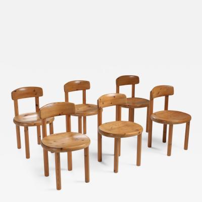 Rainer Daumiller Rainer Daumiller set of six dining chairs in pine 1970s