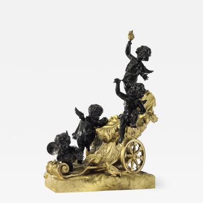 Raingo Fr res Exceptional Quality Napoleon III Gilt and Patinated Bronze Sculpture