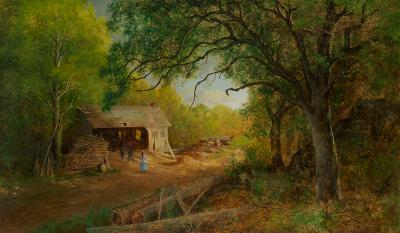 Ralph Albert Blakelock A Sawmill in the Woods