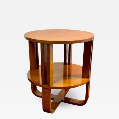 Ralph Lauren Ralph Lauren Art Deco End Lamp Wine Table Walnut Hollywood Modern Collection