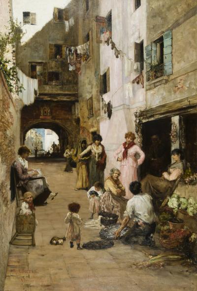 Ralph Wormley Curtis A Street in Venice