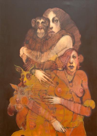 Ramon Santiago Women and Monkey